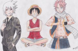 3 manga characters by ImageRemanente