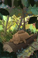 Sleepy Forest Bears by sebreg