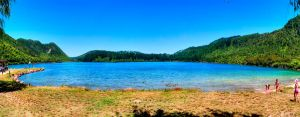 Blue Lake Pano by drDIGITALhamodi