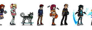 Limbo School characters sprites by cibo-black-cat