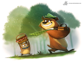 Daily Painting #857. Yogi by Cryptid-Creations