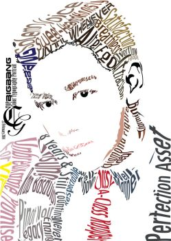 TOP BIGBANG Typography Color Portrait by NateCharystalic