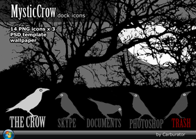 MysticCrow dock icons by Carburator