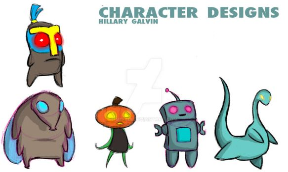 Primitive Theatre Characters by Miskui