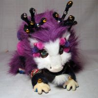 Purple Dragon Doll by VoodooWolfStudios