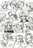 Hairstyles of My Life artline by plainordinary1