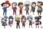 Ace Attorney Stickers by aoineko