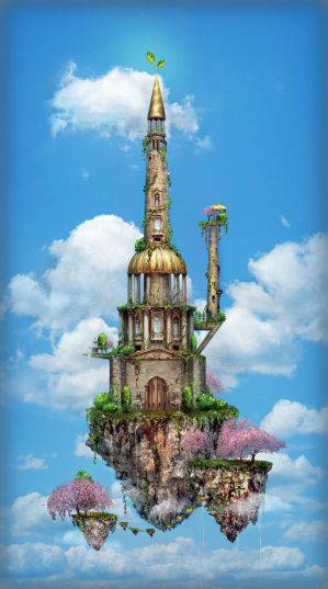 4 seasons: spring tower by qi-art