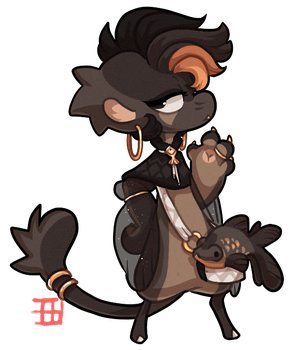 #367 Bagbean - Black Moore AUCTION CLOSED by griffsnuff