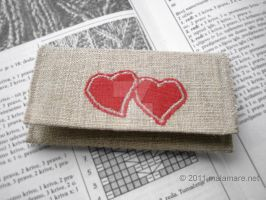 Business cards case, Hearts by MalaMareHandmade