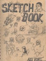 the cover of my sketchbook by alexvontolmacsy