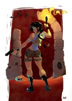 Lara Croft fan art by Kingcroco