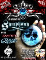 Sacred Dawn Show Flyer by C0G-Graph1x
