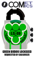 Request: Fan Lock - Green Budou Lockseed by CometComics