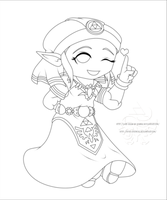 Young Zelda - Lines by Lady-Zelda-of-Hyrule