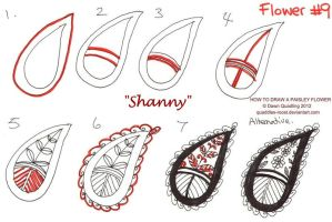 How to draw Paisley Flower 09 Shanny by Quaddles-Roost