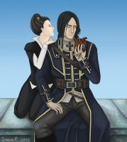 Dishonored: Corvo and Empress by SheIsSheogorath