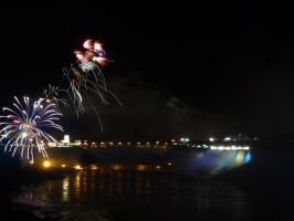 Fireworks over Niagara Falls by GiovediStorm-Shade