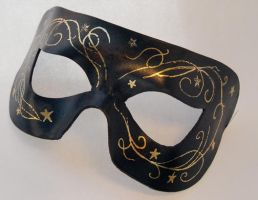 Midnight stars and swirls mask by Shadows-Ink