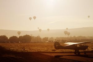 Balloons in the Haze by SonjaPhotography