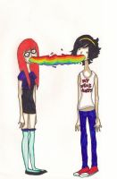 two girls one rainbow. by sunflower-0