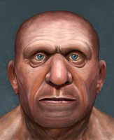 Neanderthal face study by Mihin89