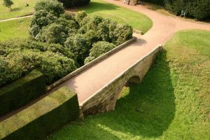 Warwick Castle Bridge and Moat by FoxStox