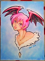 Lilith chalk pastel by coffeejelly