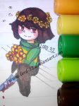 Golden flowers (Art with Sharpies) by Lord-32
