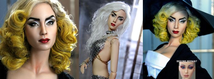 Doll Repaint - LADY GAGA by noeling