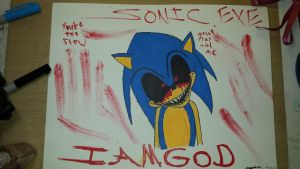 Another sonic. exe drawing by dustydan95
