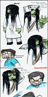 Ghoul and Herobrine doodles by Cageyshick05