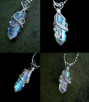 Angel Opal Aura - Super Flash Pendant by LadyPirotessa