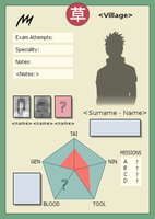 Ninja Info Card Template by AJUST