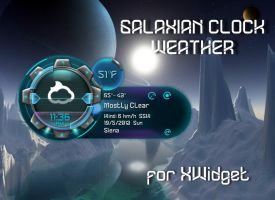 Galaxian Clock Weather for xwidget by jimking