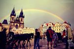 Rainbow Over Prague by oO-Rein-Oo