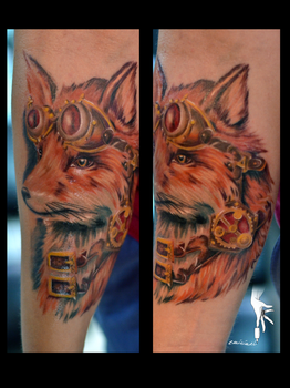 steampunk fox by eminimal