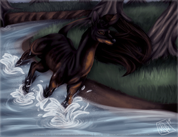 Fawnling - Raeghan for IthilFaer by deer-mouse