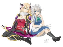 Paypal Commission: Daciks (Feeva and Sakuya) by kimmy77