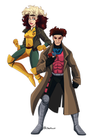 Rogue and Gambit by Shellsweet