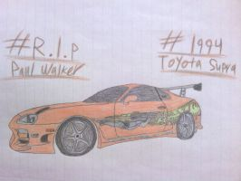 PW Tribute Drawing #2: 1994 Toyota Supra by ShiftyGuy1994