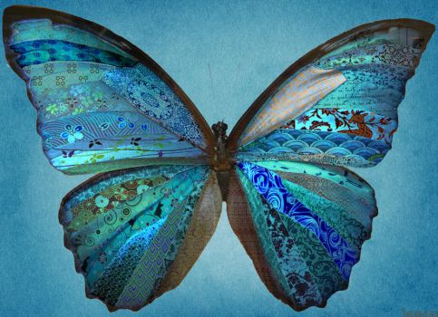patchwork butterfly by Llewcie