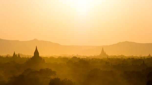 Bagan sunset II by albertsphotos