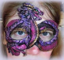 Purple Chinese Dragon Mask by Namingway