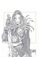 Witchblade the barbarian by stevelydic