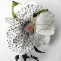 Hibiscus Hairpiece by tracyholcomb