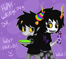 HAPPY WRIGGLING DAY by Johorrible