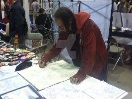 Me drawing at Comicon by PatrickOlsen