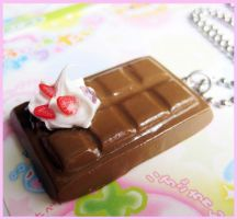Chocolate Bar Necklace by cherryboop
