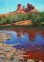 Colorado desert river by artsaus